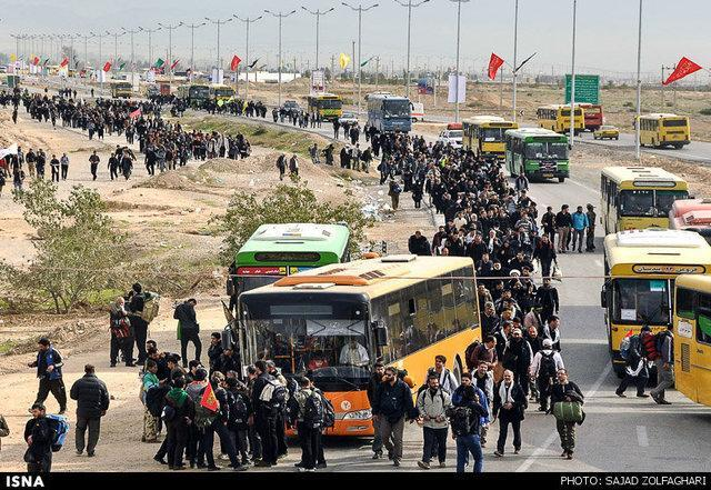 حمایت کمیته امداد لرستان از 1700 زائر اربعین حسینی
