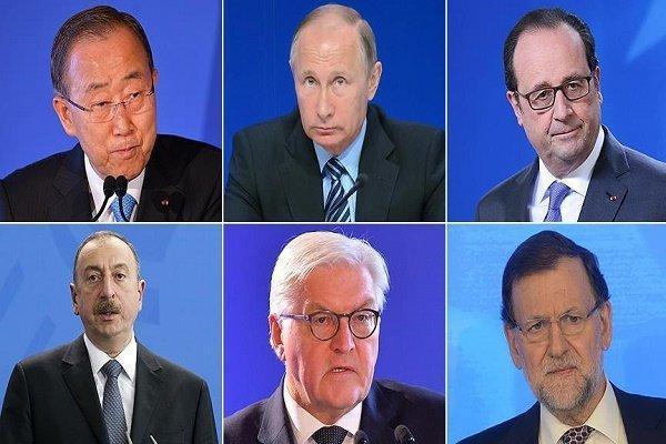پیغام تسلیت رهبران دنیا به ترکیه