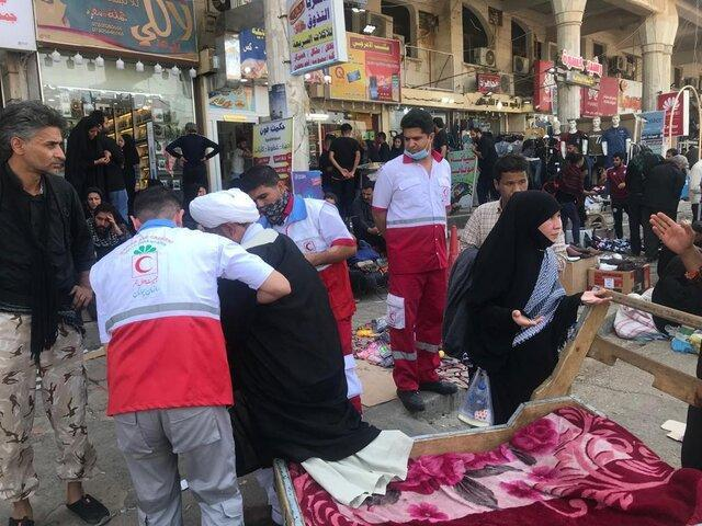 ارائه خدمت به یک میلیون و 490 هزار زائر در درمانگاه های هلال احمر در عراق
