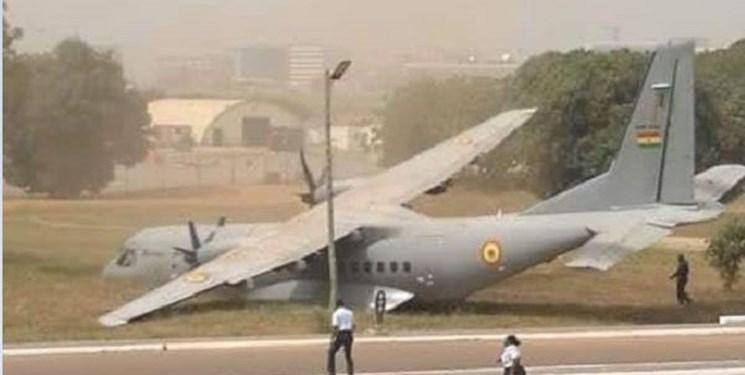 هواپیمای سی-295 ارتش غنا سقوط کرد
