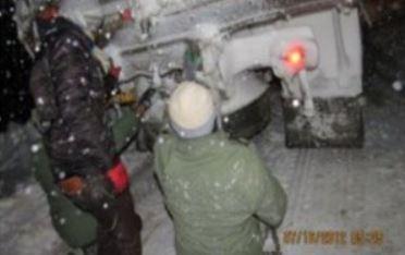 امدادرسانی تیپ 164 نزاجا به هموطنان گرفتار در برف و کولاک