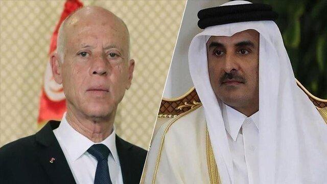 گفت وگوی رئیس جمهوری تونس و امیر قطر درباره ویروس کرونا