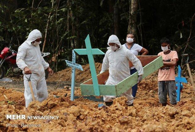 کرونا در برزیل رکورد زد، 1179 قربانی در یک روز