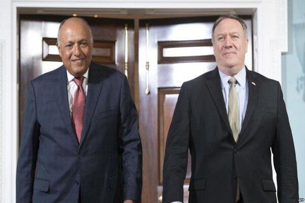 وزرای خارجه مصر و آمریکا تلفنی تبادل نظر کردند