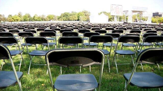 20 هزار صندلی خالی مقابل کاخ سفید برای ادای احترام به 200 هزار قربانی کرونا