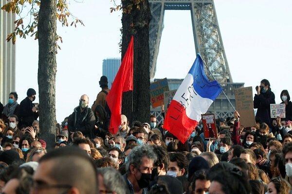 تظاهرات مردم فرانسه علیه لایحه افزایش قدرت پلیس