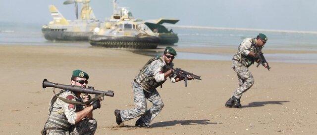 رزمایش دریایی مشترک کویت و آمریکا در خلیج فارس
