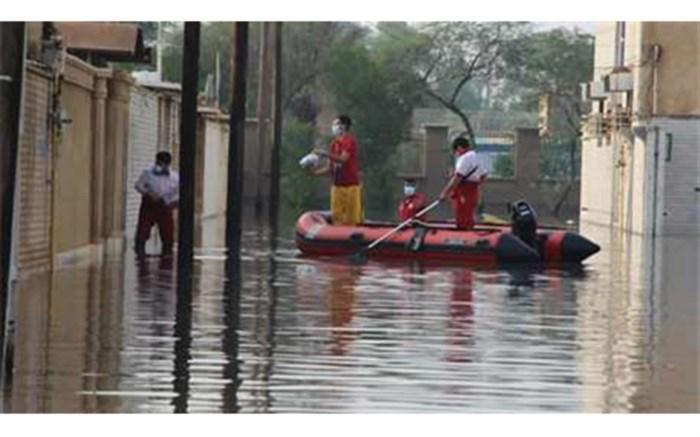 امدادرسانی به 7863 نفر در 8 استان سیل زده