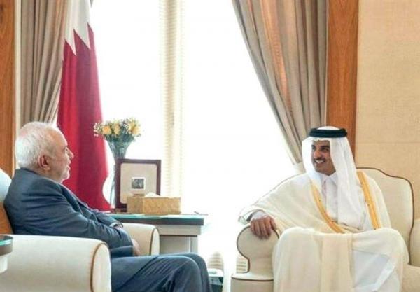 خبرنگاران ظریف با امیر قطر ملاقات کرد
