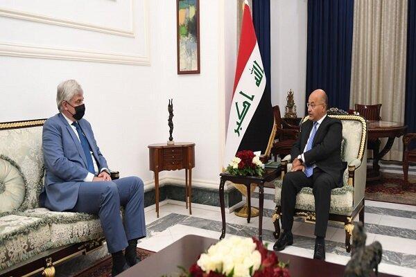 رایزنی رئیس جمهور عراق با سفیر روسیه در بغداد درباره تحولات منطقه