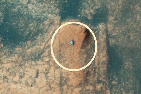 اولین عکس هوایی از کوهنوردی مریخ نورد کنجکاوی منتشر شد