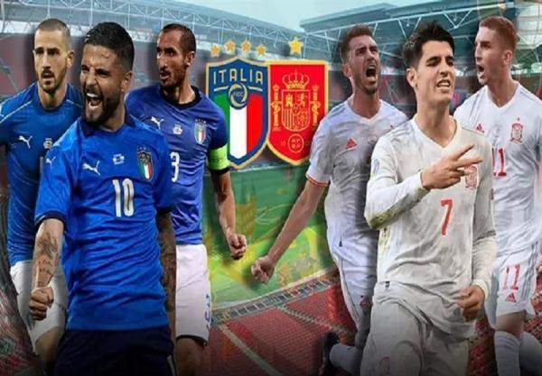یورو 2020، اعلام ترکیب اصلی ایتالیا و اسپانیا ، موراتا نیمکت نشین شد، امرسون جانشین اسپیناتزولا